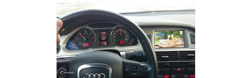 Audi A6 2008 - doposażenie w Tuner TV + kamera cofania