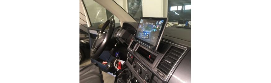 VW T6- montaż stacji multimedialnej ALPINE INE-F904D Halo 9