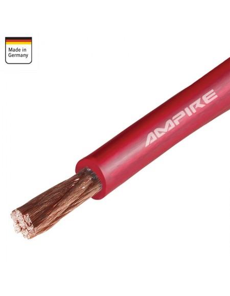 Kabel zasilający AMPIRE czerwony 10mm² , 1m , OFC